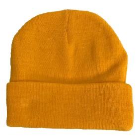OTTO アクリル ニットキャップ ダブル ニット帽 新色 H4040 (ゴールド)