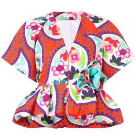 Delpozo peplum short-sleeve jacket - レッド