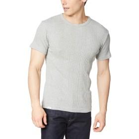 [エドウィン] Tシャツ 着心地抜群! ! ジャガードクルーネック 半袖Tシャツ メンズ ET5674 杢グレー 日本 M (日本サイズM相当)