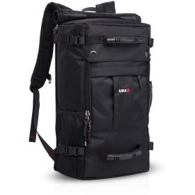 FANDARE ファッション 登山用 バックパック 旅行 ハイキング アウトドア リュックサック 多機能 3WAY 17インチラップトップ収納可能 大容量 防水 ポリエステル ブラック