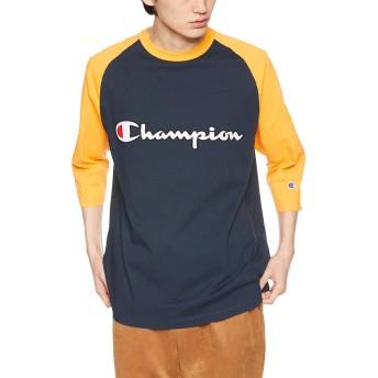 [チャンピオン] ラグラン7分袖Tシャツ C3-P405 メンズ ネイビー 日本 M (日本サイズM相当)