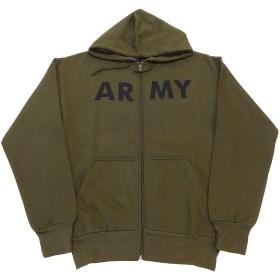 ARMY TRAINING FULL ZIP HOODED(アーミースウェットトレーニングフルジップパーカー) (Sサイズ, ARMYOD(オリーブ))