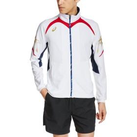 [アシックス] フィットネス ジャケット XAT139 メンズ ホワイト/レッド 日本 O-(日本サイズ2L相当)