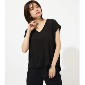 [アズールバイマウジー] tシャツ ESPANDY FRENCH SLEEVE TOPS 250CSH80-373D S ブラック レディーズ