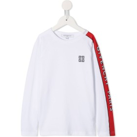 Givenchy Kids ロゴ Tシャツ - ホワイト