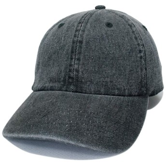 NEWHATTAN ニューハッタン 正規品 デニム ウォッシャブル キャップ インディゴ デニム 黒 ブラック 帽子 定番 別注 オリジナル 作成 刺繍 対応可 1155
