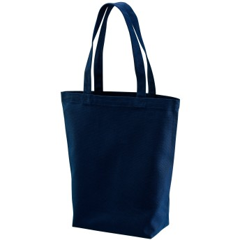 選べる2サイズ トートバッグ キャンバス バッグ レディース メンズ ユニセックス エコバッグ ショッピングバッグ (M, ネイビー)
