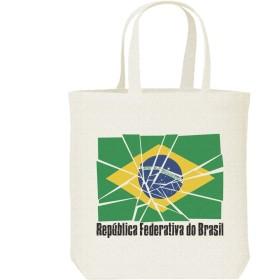 エムワイディエス(MYDS) ブロークン・ブラジル国旗/キャンバス M トートバッグ
