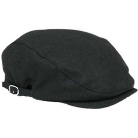【ノーブランド品】 no brand (ブラック)BIGサイズ 大きいサイズ ウール メルトン ハンチング 帽子