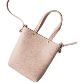 (ラグロージー)LuxRosy 2WAY ショルダー ハンド バッグ スマホも入る 鞄 ミニ ポーチ レディース 小物 ピンク