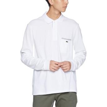 [ラコステ] ポイントストライプポロシャツ(長袖) PH0118L メンズ ホワイト EU 004 (日本サイズL相当)