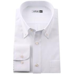 長袖ワイシャツ メンズ ボタンダウン NB101(無地-ノーマル) M(82)サイズ/l-white-m-82-nb101