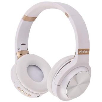 Bluetooth ヘッドホン 密閉型 低音強化 高音質 折りたたみ式 ワイヤレス ヘッドホン 12時間連続再生 ワイヤレス ヘッドホン マイク付き ブルートゥース ステレオヘッドフォン (ホワイト)
