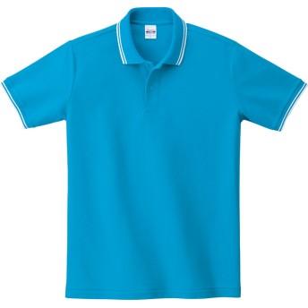 [プリントスター] 半袖 5.8オンス TC 鹿の子 ベーシック ライン ポロシャツ 00191-BLP メンズ ターコイズ×ホワイト 4L (日本サイズ4L相当)