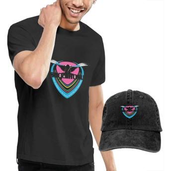 サガン鳥栖 半袖Tシャツ+カウボーイハット メンズ tシャツ カジュアル ファッション キャップ 野球帽 調節可能 日除け