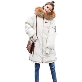 [イダク] レディース モッズコート ジャケット 中綿 防寒 防風 保温コート ゆったり カジュアル ミリタリーコート エレガント 大きいサイズ ダウンコートベージュ2XL