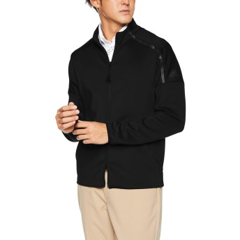 [adidas Golf(アディダスゴルフ)]ブルゾン AD 19SS FVE66 M BK L/S スウェット DW6263 メンズ ブラック 日本 M (日本サイズM相当)