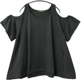 (Goldjapan)ゴールドジャパン 大きいサイズ レディース トップス Tシャツ カットソー gold118-03-01 ブラック XXL(3L)