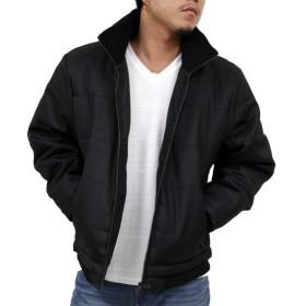 (リアルコンテンツ) 中綿 ジャケット メンズ アウター ブルゾン 防寒 リブ 大きいサイズ 71-f579rc (M, BLACK)