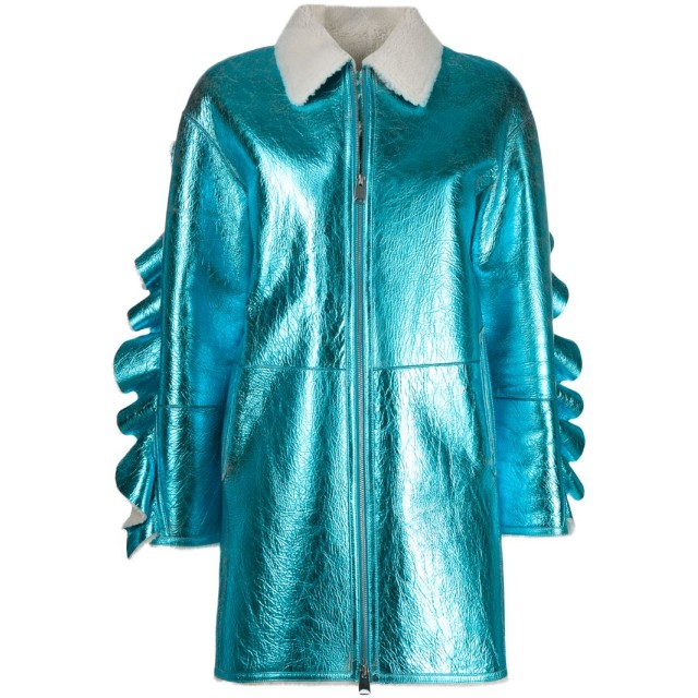 Liska メタリックコート - ブルー