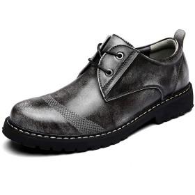[AcMeer] ビジネスシューズ メンズ カジュアルシューズ プレーントゥシューズ 外羽根 革靴 紳士靴 レースアップ ブラック ブラウン
