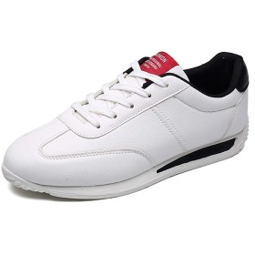 [Fainyearn] スニーカー メンズ スポーツシューズ ランニングシューズ 運動靴 カジュアルシューズ ウォーキングシューズ 通気性 超軽量 クッション性 通勤 通学 日常着用 ホワイトブラック 25.0cm