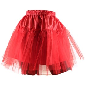 パニエ ハードチュール素材2重チュール Pannie-8-レッド-5 /スカートのボリュームアップに