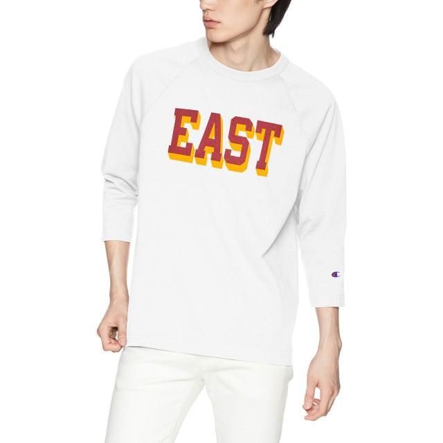[チャンピオン] T1011 ラグラン7分袖Tシャツ MADE IN USA C5-P402 メンズ ホワイト 日本 M (日本サイズM相当)