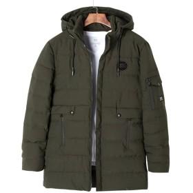 FOMANSH メンズ 綿ジャケット 中綿コート フード付き ブルゾン 防風 防寒 暖かい 秋冬 上品 スリム
