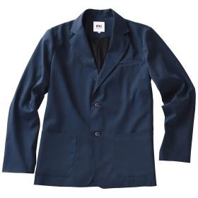 [スーツに見える作業着 ワークウェアスーツ]テーラードジャケット〈メンズ〉 (ネイビー, LL)