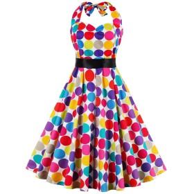 (ボトミ) Botomi レディース ワンピース 50年代 夏 ノースリーブ ドレス 結婚式 二次会 パーティー