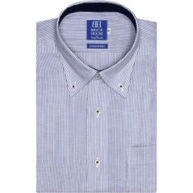 ブリックハウス ワイシャツ 半袖 形態安定 ボタンダウン Wガーゼ 綿100% 新体型 メンズ BM018205AC45B4G-10 ブルー 37(半袖)