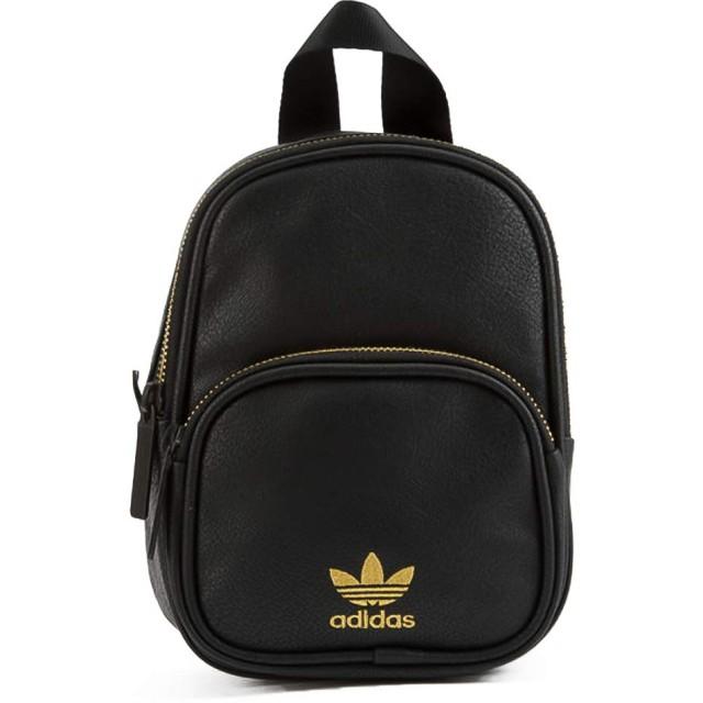 adidas MINI PU LEATHER BACKPACK 各カラー CK5083 (BLACK/GOLD) [並行輸入品]
