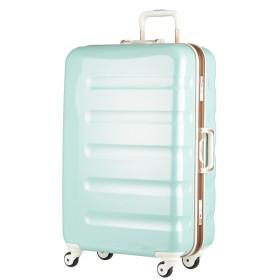 [アウトレット]スーツケース キャリーケース キャリーバッグ 旅行用品 ハードキャリー カラーフレーム 日乃本キャスター SS サイズ ハードケース フレーム 機内持ち込み可 超軽量 鏡面 W-6016-47 グリーンカーボン