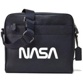 COACH 【コーチ × NASA メンズ/クロスボディ バッグ F28319 QB/BK カメラ バッグ ナサ/ブラック × ホワイト 】 [並行輸入品]
