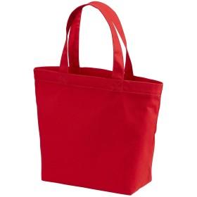 選べる3サイズ トートバッグ キャンバス バッグ レディース メンズ ユニセックス エコバッグ ショッピングバッグ (S, レッド)