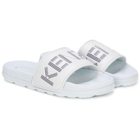 Kenzo Kids エンボスロゴ サンダル - ホワイト