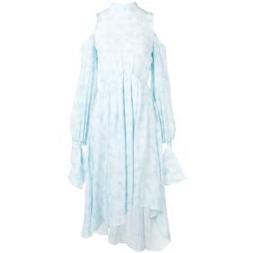 Rokh オープンショルダー ドレス - ブルー