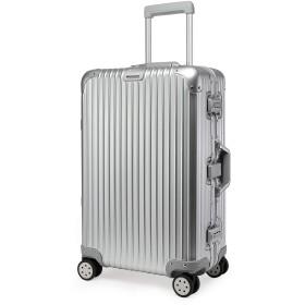 クロース(Kroeus) キャリーケース スーツケース アルミ・マグネシウム合金ボディ TSAロック搭載 多段階調節キャリーバー 大容量 8輪 360度自由回転 S型機内持込可 20 シルバー