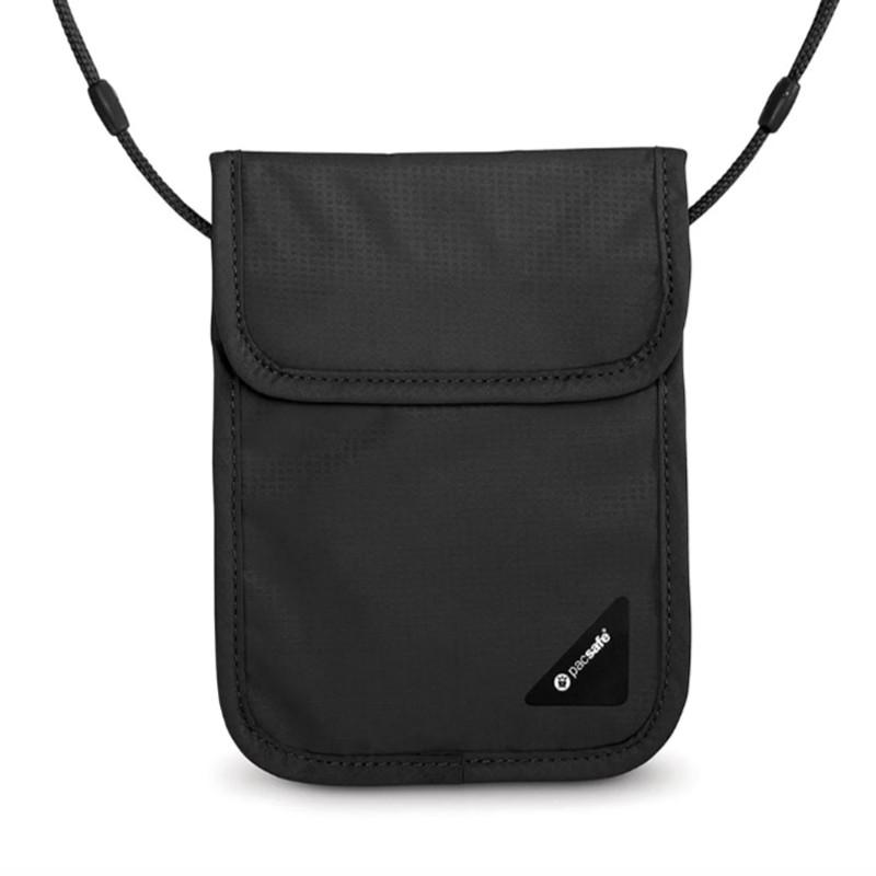 【澳洲Pacsafe】Coversafe X75 RFID 安全貼身掛頸暗袋-黑