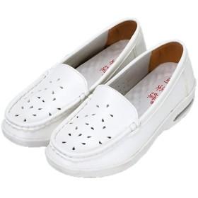 ナースシューズ レディース ウェッジヒール 3-5cm 大きいサイズ コンフォートシューズ 41 25.5 大きいサイズ フラット 柔軟 通気性 防臭 幅広い 白 モカシンシューズ スリッポン 安全靴 歩きやすい 25.0[イノヤ]