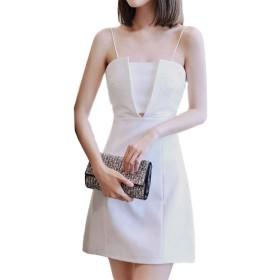 [アイラカリラ] #63 ミカ (白, M) ストラップ チューブトップ ミニ パーティ ドレス レディース