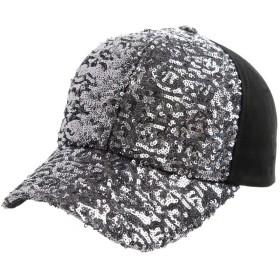 キャップ レディース 黒 きゃっぷ かわいい 紫外線uvカット 帽子 メンズ ベースボールキャップ ゴルフ 夏 大きいサイズ ブラック cap スパンコール