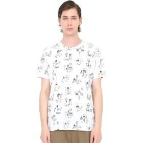 (グラニフ) graniph コラボレーション Tシャツ ぼくのキュートナパターン (荒井良二) (ホワイト) メンズ レディース L (g01) (g14) #おそろいコーデ