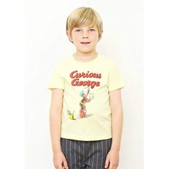 (グラニフ) graniph コラボレーション キッズ Tシャツ ペインティングロゴ (おさるのジョージ) (レモネード) 120 (g28)