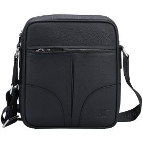 Banuce バンニュス ショルダーバッグ メンズ メッセンジャーバッグ 本革 ブラック 小さい 斜めがけ ビジネスバッグ 軽量 縦型 iPadの収納 クロスボディバッグ