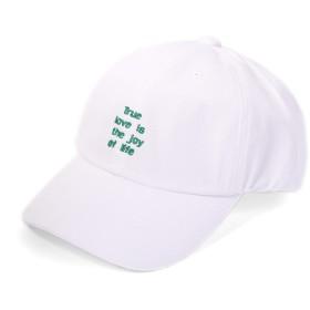 [エムエイチエー] M.H.A.style 帽子 キャップ ロゴ刺しゅう入り コットンツイル ローキャップ ベースボールキャップ [全3色] 21662 A.ホワイト