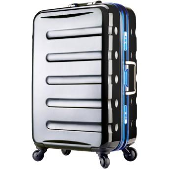 [アウトレット]スーツケース キャリーケース キャリーバッグ 旅行用品 ハードキャリー カラーフレーム 日乃本キャスター SS サイズ ハードケース フレーム 機内持ち込み可 超軽量 鏡面 W-6016-47 ブラック・ブルー