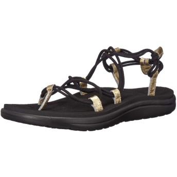 [Teva] Women's Voya Infinity Metallic Black/Gold Ankle-High Sandal - 10M