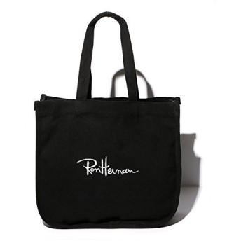 ロンハーマン トートバッグ トート Ron Herman totebag キャンバス 人気刺繍ロゴ入り セレブ ユニセックス 男女兼用(正規品取扱店舗) (ブラック) [並行輸入品]